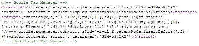 Tag Manager iframe Pixel